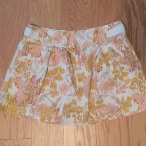 Floral barely worn skirt